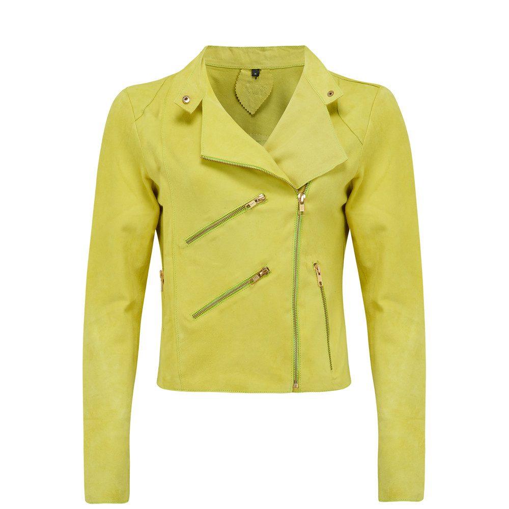 Paris Suede Jacket - Lime