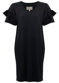 Current/Elliott The Ruffle Roadie Dress - Washed Black