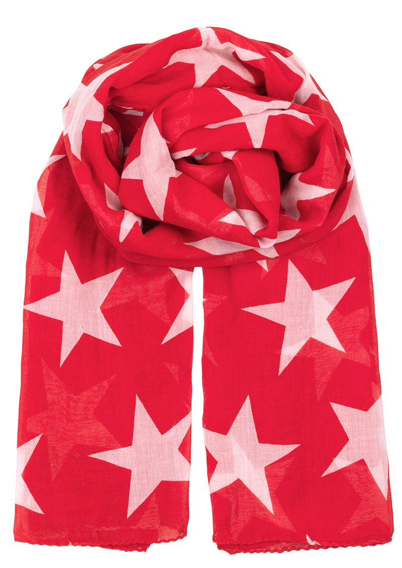 Becksondergaard Fine Twilight Scarf - Fiery Red main image