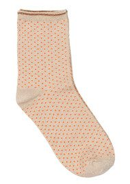 Becksondergaard Dina Small Dots Socks - Mandarin Red