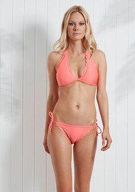 HEIDI KLEIN Capri Scallop Bikini Bottoms - Neon Coral