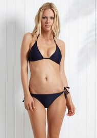 HEIDI KLEIN Hamptons Rope Tie Bikini Bottoms - Navy