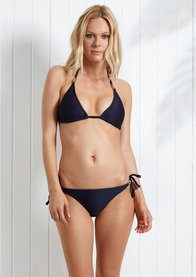 HEIDI KLEIN Hamptons Rope Tie Bikini Bottoms - Navy main image