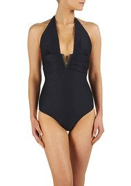 HEIDI KLEIN Manhattan V Bar One Piece - Navy
