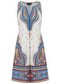 Hale Bob Nerrisa Printed Dress - Ivory