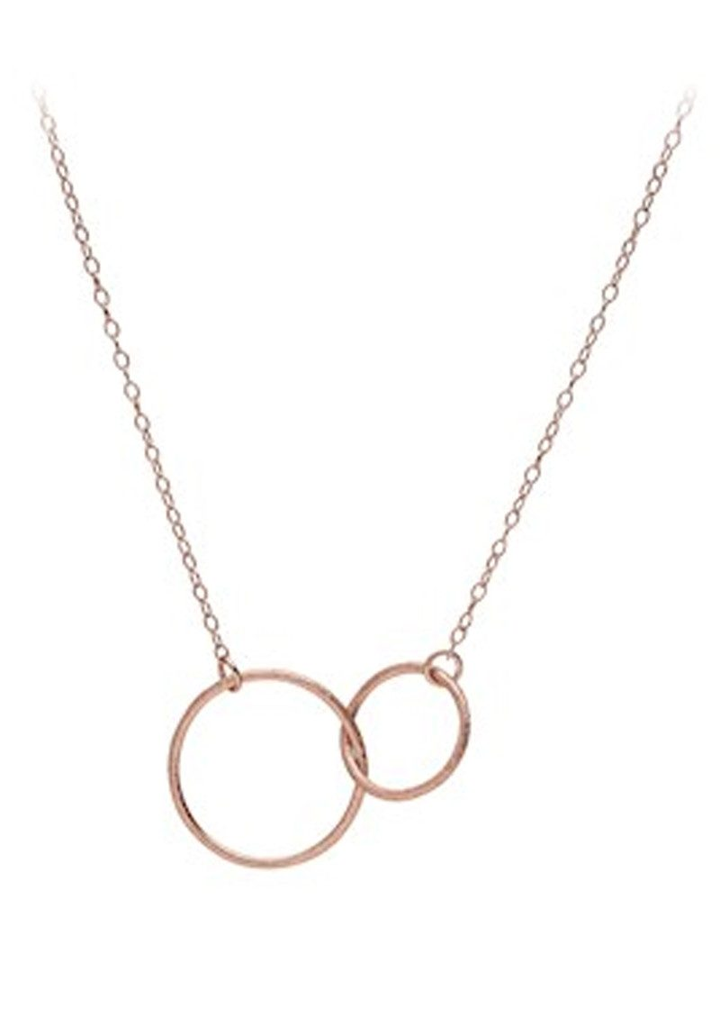 PERNILLE CORYDON Double Plain Necklace - Rose Gold main image