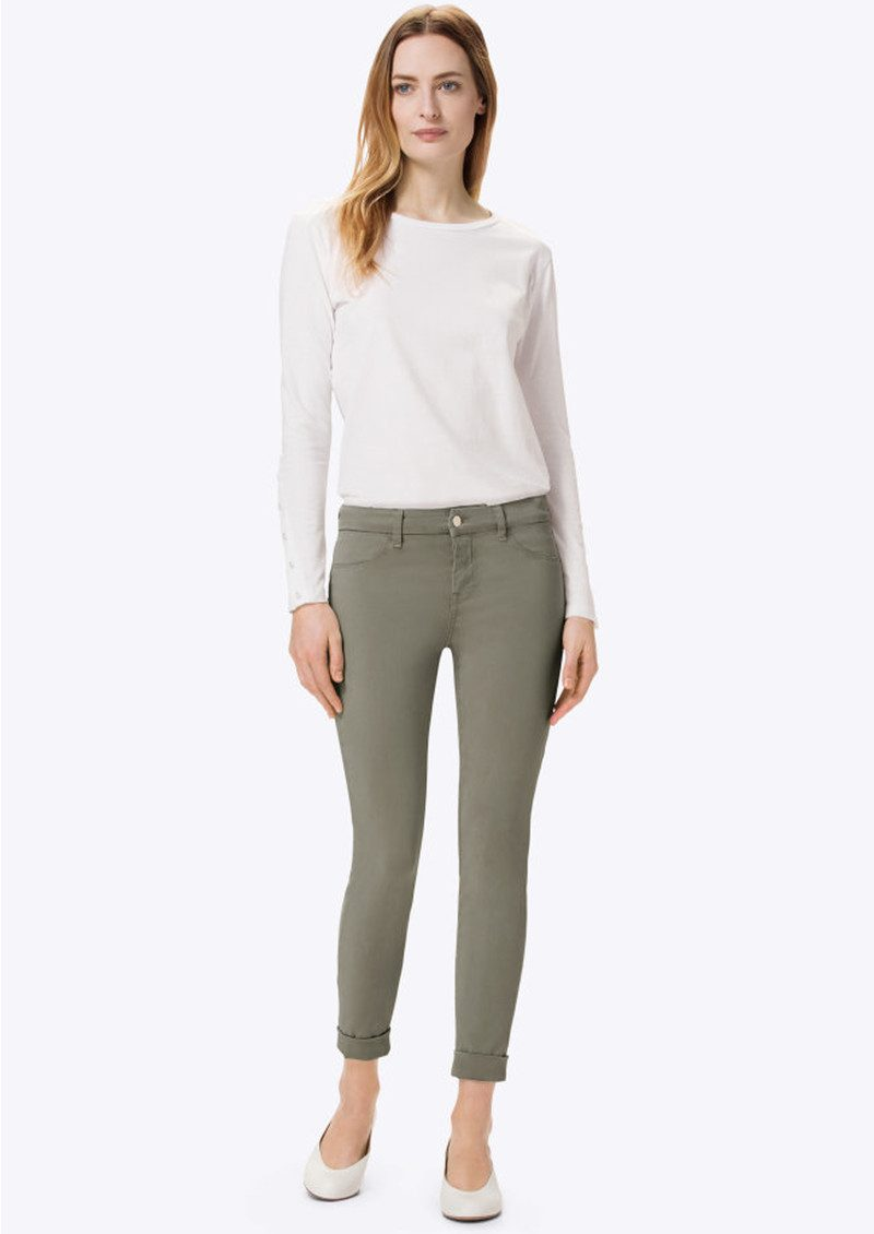 J Brand Anja Clean Cuffed Crop Jeans - Castor Grey main image