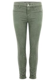 J Brand Anja Clean Cuffed Crop Jeans - Castor Grey