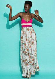 Essentiel Netroni Crochet Maxi Dress - Cream Print