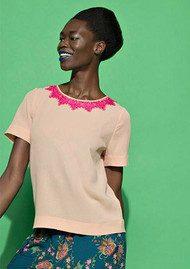Essentiel Nangeles Lace Back Top - Blush