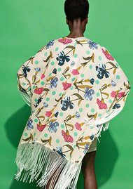 Essentiel Nomalinda Fringe Kimono - Print