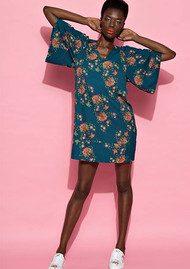 Essentiel Nolcom Dress - Teal Floral