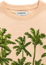 Essentiel Naono Palm Tree Sequin Sweatshirt - Blush