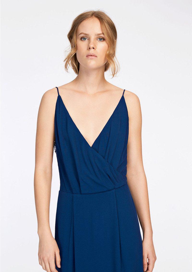 168503491 SAMSOE & SAMSOE Ginni Long Dress - Estate Blue