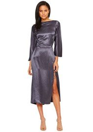 BEC & BRIDGE Oil Slick Cowl Dress - Charcoal
