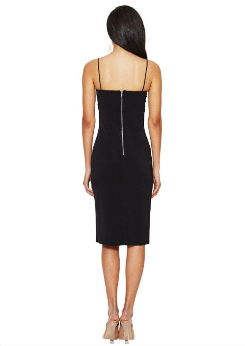 BEC & BRIDGE Metamorphic Plunge Dress - Black main image