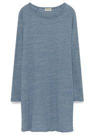 American Vintage Otokay Long Sleeve Dress - Denim Melange