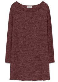 American Vintage Otokay Long Sleeve Dress - Cardinal Melange
