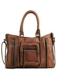 DAY & MOOD Rose Satchel - Cognac