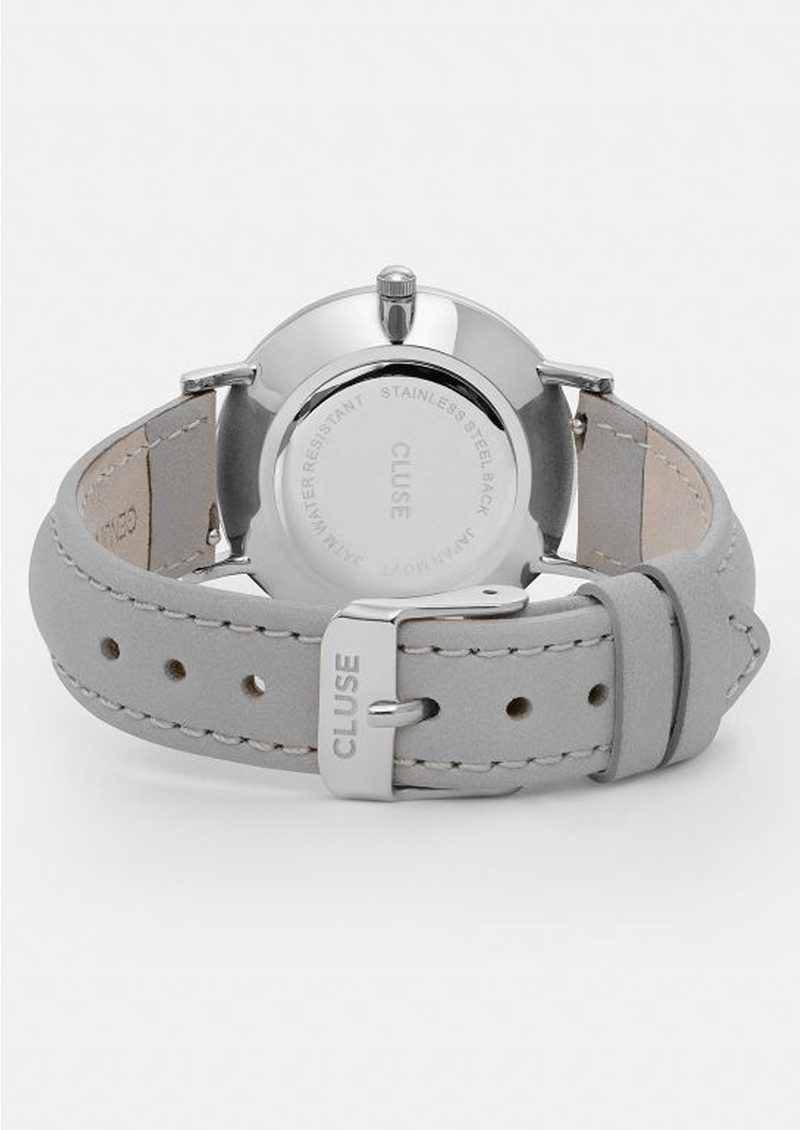 CLUSE Minuit Silver Watch - White & Grey main image