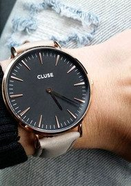 CLUSE La Boheme Rose Gold Watch - Black & Grey