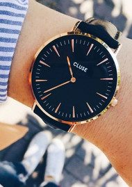 CLUSE La Boheme Rose Gold Watch - Black & Black