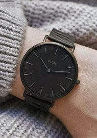 CLUSE La Boheme Mesh Watch - Black & Black