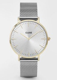 CLUSE La Boheme Mesh Watch - Gold & Silver