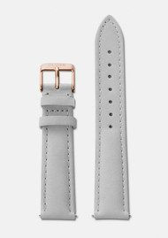 CLUSE La Boheme Leather Strap - Grey & Rose Gold