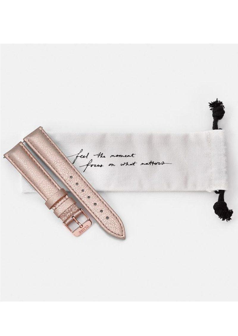 CLUSE La Boheme Metallic Leather Strap - Rose Gold main image