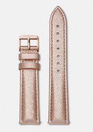 CLUSE La Boheme Metallic Leather Strap - Rose Gold