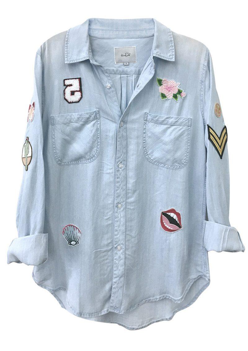 Rails Carter Shirt - Light Vintage Patchwork main image