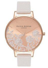 OLIVIABURTON Lace Detail Watch - Blush & Rose Gold