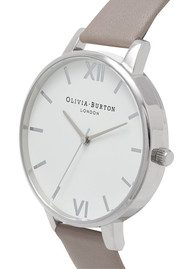 Olivia Burton Big Dial White Dial - London Grey & Silver