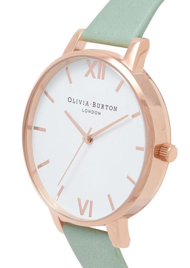 Olivia Burton Big Dial White Dial - Mint & Rose Gold main image