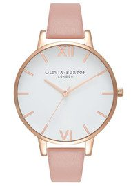 Olivia Burton Big Dial White Dial - Dusty Pink & Rose Gold