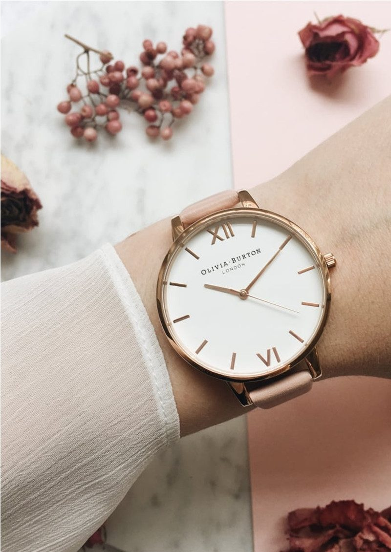 Olivia Burton Big Dial White Dial - Dusty Pink & Rose Gold main image