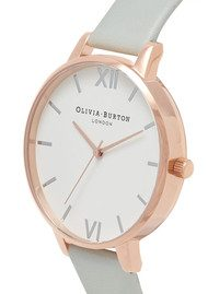 Olivia Burton Big Dial Vegan Friendly - Grey & Rose Gold