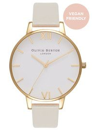 Olivia Burton Big Dial Vegan Friendly - Nude & Gold