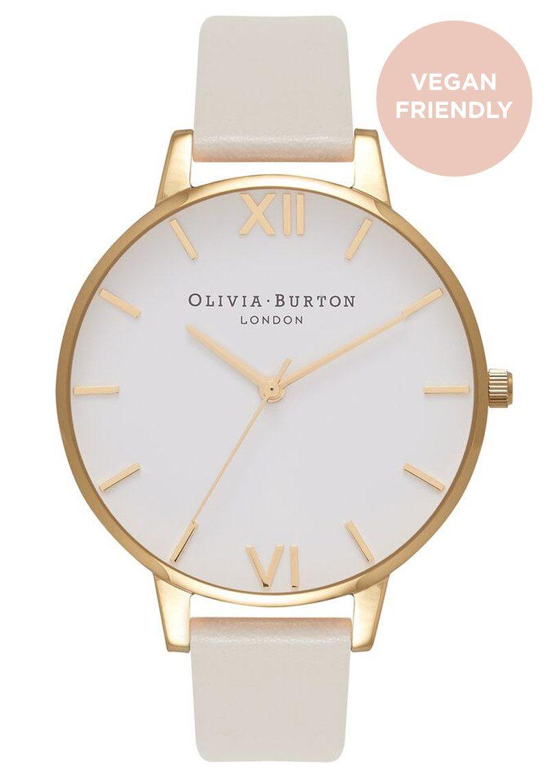 Olivia Burton Big Dial Vegan Friendly - Nude & Gold main image