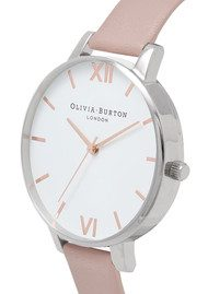 Olivia Burton Big Dial Vegan Friendly - Rose Sand & Silver