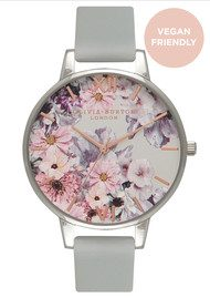 Olivia Burton Vegan Friendly Enchanted Garden Watch - Grey & Silver