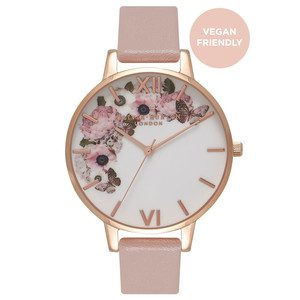 Vegan Friendly Enchanted Garden Watch - Rose Sand & Rose Gold