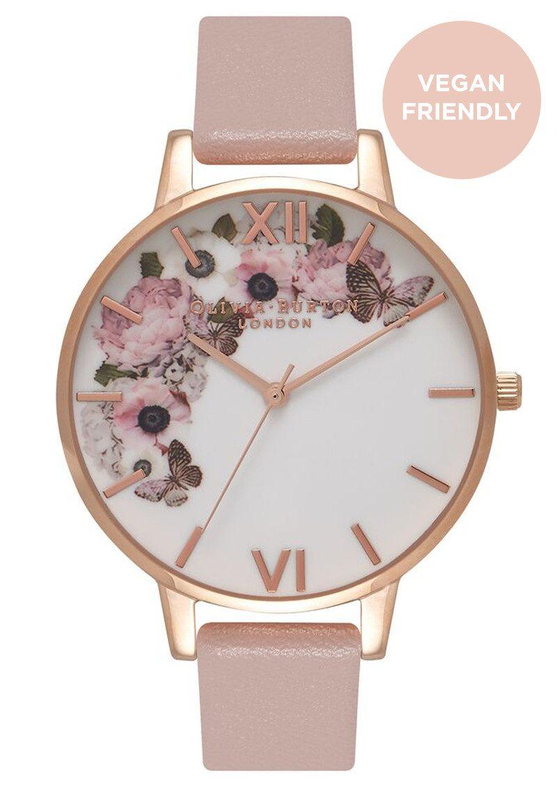 05273fb181f5 Olivia Burton Vegan Friendly Enchanted Garden Watch - Rose Sand & Rose Gold  main image ...