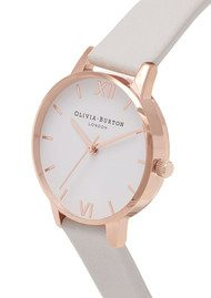 Olivia Burton Vegan Friendly Midi Dial - Grey & Rose Gold