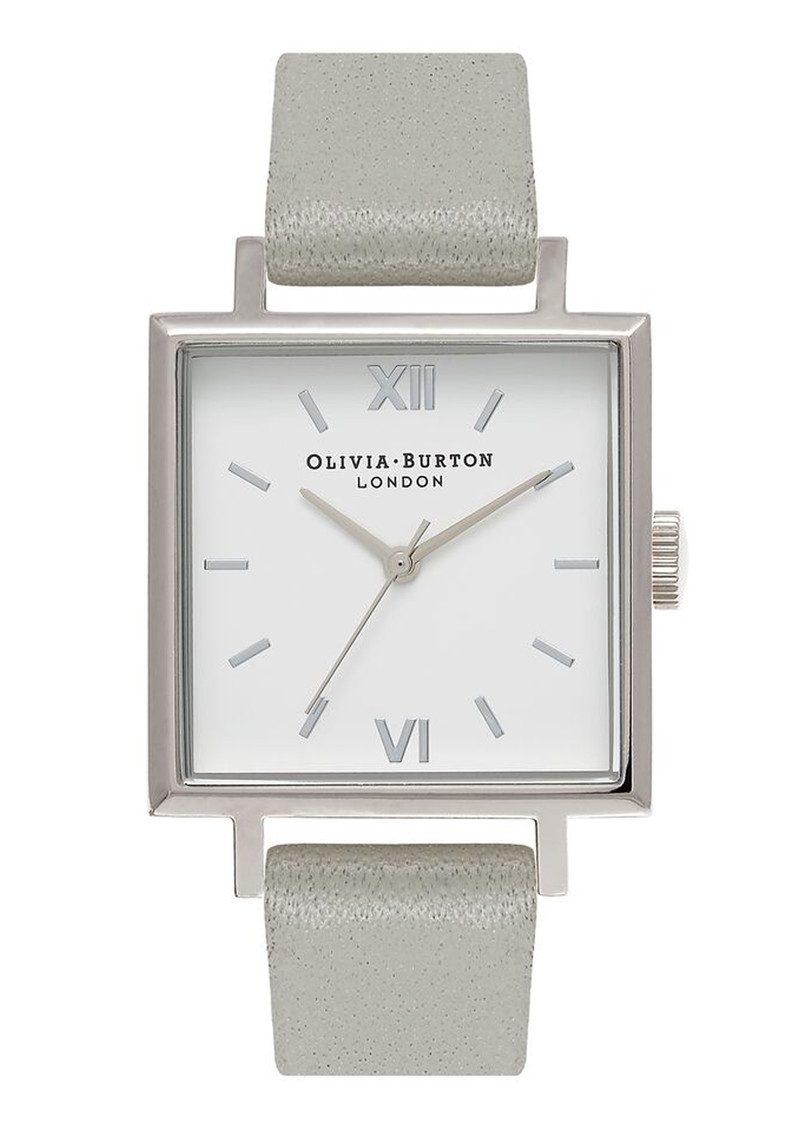 Olivia Burton Big Square Dial Watch - Grey & Silver main image