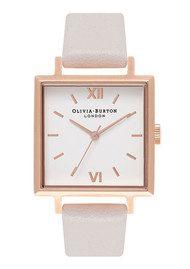Olivia Burton Big Square Dial Watch - Blush & Rose Gold