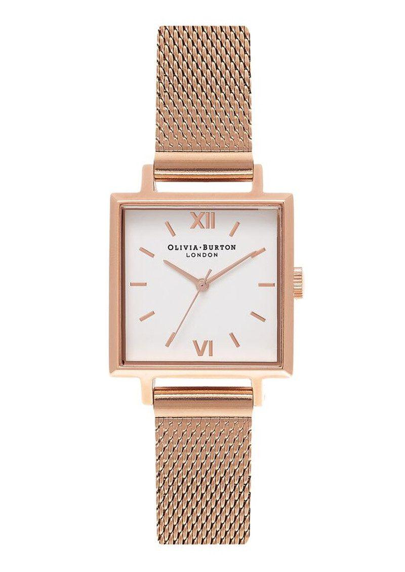 Olivia Burton Midi Square Dial Watch - Rose Gold Mesh main image