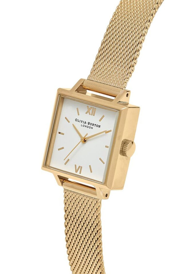 Midi Square Dial Watch - Gold Mesh main image