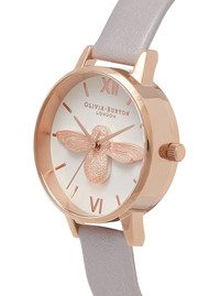 Olivia Burton Midi 3D Bee - Grey Lilac & Rose Gold